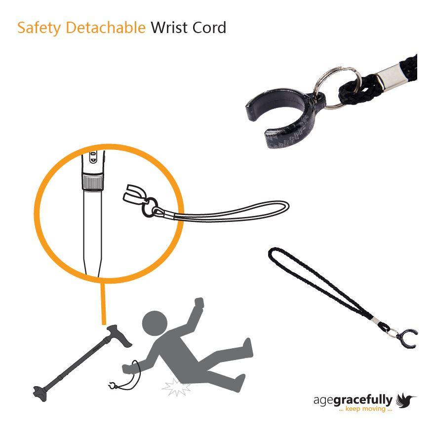 Safety Detachable Wrist Cord
